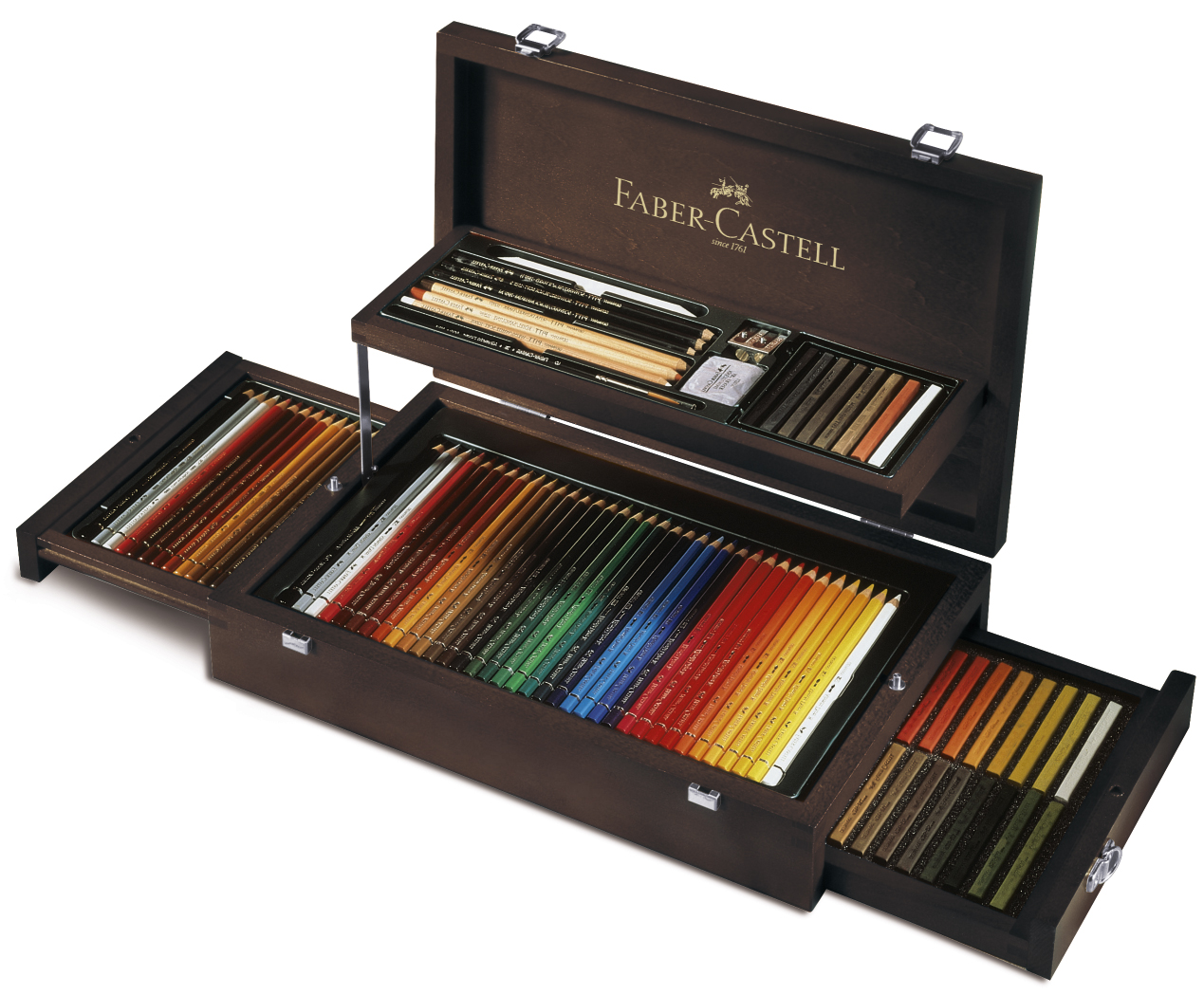 coffret beaux arts faber castell coffrets beaux arts 126 pcs coffret beaux arts en bois. Black Bedroom Furniture Sets. Home Design Ideas